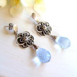 ekskluzywne,misterne,kwiatowe,koronkowe - Kolczyki - Biżuteria