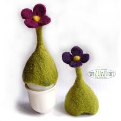 filc,kwiat,wielkanoc,ocieplacze,czapeczki na jajka - Inne - Wyposażenie wnętrz