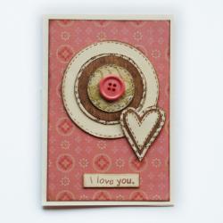 kartka,okolicznosciowa,życzenia,serduszko, - Kartki okolicznościowe - Akcesoria