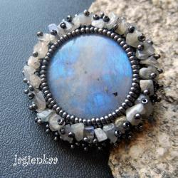 haft koralikowy,elegancki,unikalny,romantyczny - Broszki - Biżuteria