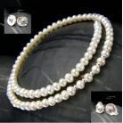 Komplety kolczyki z perłą,sztyfty,nehesi