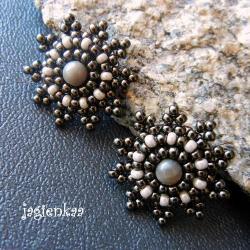 haft koralikowy,elegancki,unikalny,delikatny - Kolczyki - Biżuteria