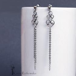 kolczyki,długie,lekkie,kobiece,filigrany,ludowe - Kolczyki - Biżuteria