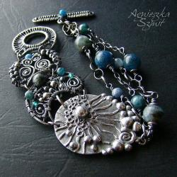 oryginalna bransoleta,ozdobna,efektowna,morska - Bransoletki - Biżuteria
