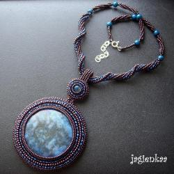 haft koralikowy,etniczny,efektowny - Naszyjniki - Biżuteria