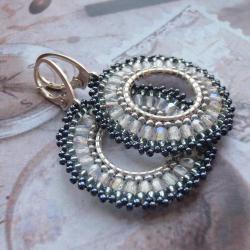 plecione,kolczyki,Extrano,koła - Kolczyki - Biżuteria