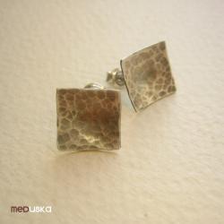 małe,kwadraty,sztyfty,proste - Kolczyki - Biżuteria