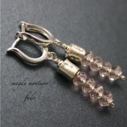 srebro,kolczyki,kryształ,Swarovski - Kolczyki - Biżuteria