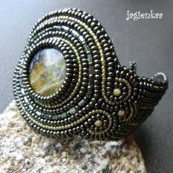 haft koralikowy,elegancki,unikalny - Bransoletki - Biżuteria