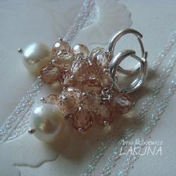 kolczyki,biżuteria ślubna,cyrkonie,perły - Kolczyki - Biżuteria