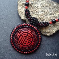 haft koralikowy,orientalny,unikalny - Naszyjniki - Biżuteria