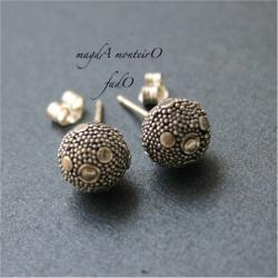 srebro,kolczyki,bali,oksydowane - Kolczyki - Biżuteria