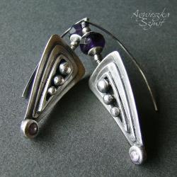 eleganckie kolczyki,srebro,bigle rybki - Kolczyki - Biżuteria