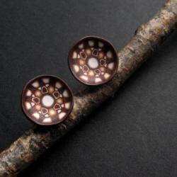 fiann,fimo,małe sztyfty,biżuteria autorska - Kolczyki - Biżuteria