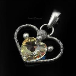 serce,walentynki,prezent,wrapping,owijane - Wisiory - Biżuteria