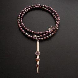 fiann,perły,biżuteria artystyczna - Naszyjniki - Biżuteria