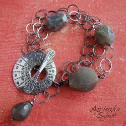 bransoleta,z labradorytem - Bransoletki - Biżuteria