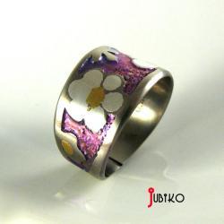 tytanowy,lekki,barwny,obrączka,wytrzymały - Pierścionki - Biżuteria