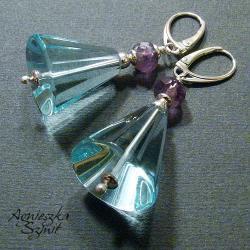 kolczyki stożki,pastele,błękit - Kolczyki - Biżuteria