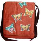 Na ramię torba listonoszka,motyle,a4,zamsz,motyl,kobieca