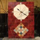 Inne zegar,mozaika,ceramika