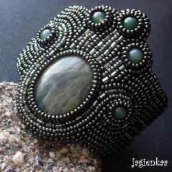 haft koralikowy,elegancki,unikalny,etniczny - Komplety - Biżuteria