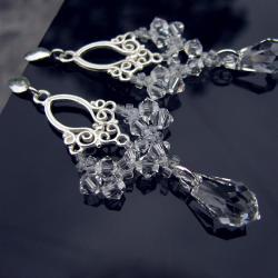 eleganckie i zmysłowe kolczyki ślubne - Kolczyki - Biżuteria