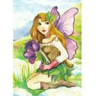 Ilustracje, rysunki, fotografia elf,wiosna,krokusy,ilustracja