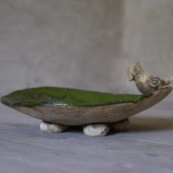 talerz,ceramika,ptak - Ceramika i szkło - Wyposażenie wnętrz