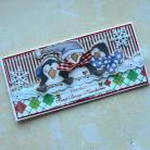 Kartki okolicznościowe kartka,pingwinki,Boże Narodzenie,zima