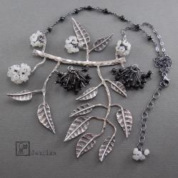 bez,owoce,kwiaty,kiście,zioła,liście,gałęzie - Naszyjniki - Biżuteria