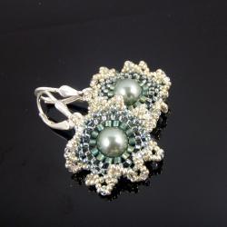 kwiaty,plecione,kolczyki,Extrano - Kolczyki - Biżuteria