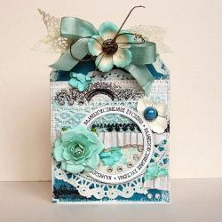 kartka,życzenia,kwiaty,kobiece,romantyczne - Kartki okolicznościowe - Akcesoria
