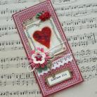 Kartki okolicznościowe serce,retro,karta,kartka,walentynki
