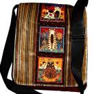 Na ramię torba,listonoszka,kot,A4,brązowy