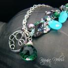 Komplety kolczyki,kwarc,apatyt,emerald,srebro,bigle