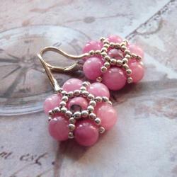 różowe,kwiaty,kolczyki,Extrano - Kolczyki - Biżuteria