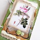 Notesy notes,kalendarz,vintage,kwiaty,kobiece