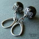 Kolczyki gotyckie kolczyki,krótkie kolczyki,z onyksem