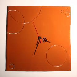 zegar,szkło,na ścianę,design - Zegary - Wyposażenie wnętrz