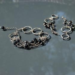 komplet biżuterii,czarna biżuteria - Komplety - Biżuteria