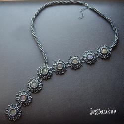 haft koralikowy,elegancki,unikalny,asymetryczny - Naszyjniki - Biżuteria