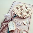 Kartki okolicznościowe kartka,drzewko,ślub,motyle,elegancka