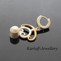lekkie,kobiece,złocone,srebrne,eleganckie - Kolczyki - Biżuteria