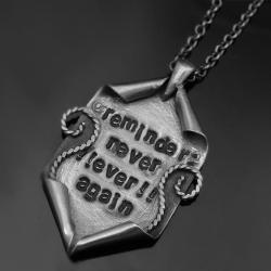 naszyjnik,wisior,grawer,lutowany,srebrny,srebro - Naszyjniki - Biżuteria