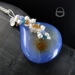 naszyjnik z agatem,nehesi - Naszyjniki - Biżuteria