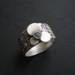szeroka obrączka,art clay,na palec - Pierścionki - Biżuteria