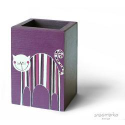 długopiśnik,na przybory,pudełko,pudełeczko,kot - Pudełka - Wyposażenie wnętrz