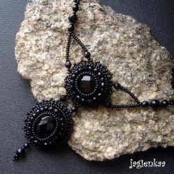 haft koralikowy,elegancki,retro - Naszyjniki - Biżuteria