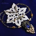 Naszyjniki srebro,lapis lazuli,srebro pozłacane,ekskluzywny